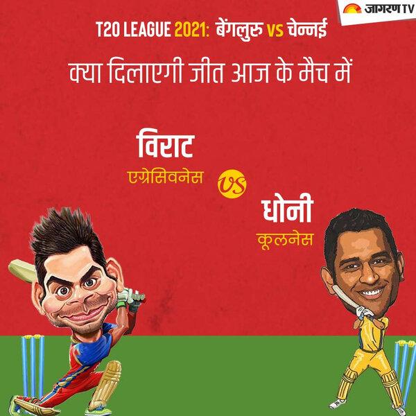 IPL 2021 CSK vs RBC: विराट एग्रेसिवनेस vs धोनी कूलनेस.... क्या दिलाएगी जीत आज के मैच में