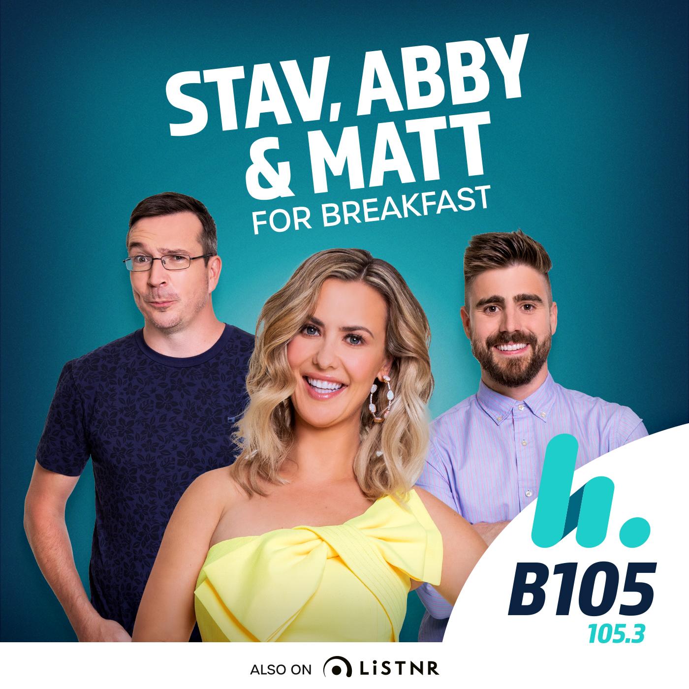 Stav, Abby & Matt Catch Up - hit105 Brisbane - Stav Davidson, Abby Coleman & Matty Acton